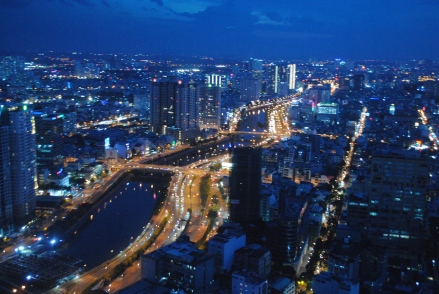 Night view from Bitexco Financial Tower